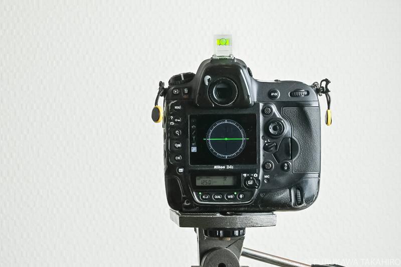 カメラの水準器