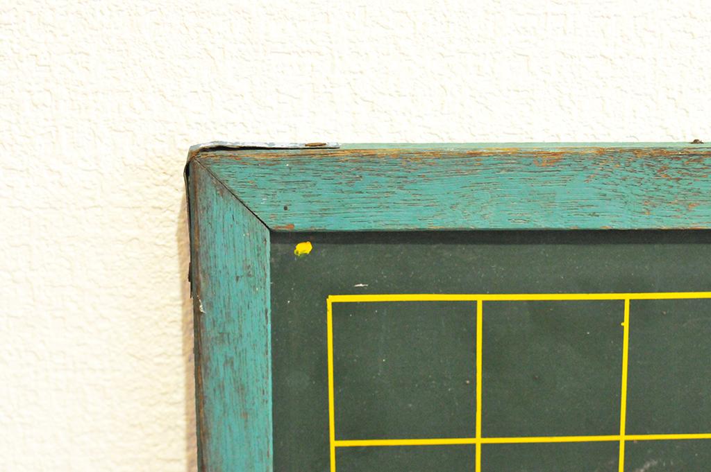 古い黒板は木枠で味のある色味