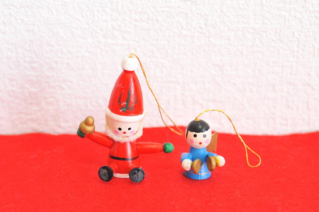 サンタと天使の可愛いクリスマスオーナメント