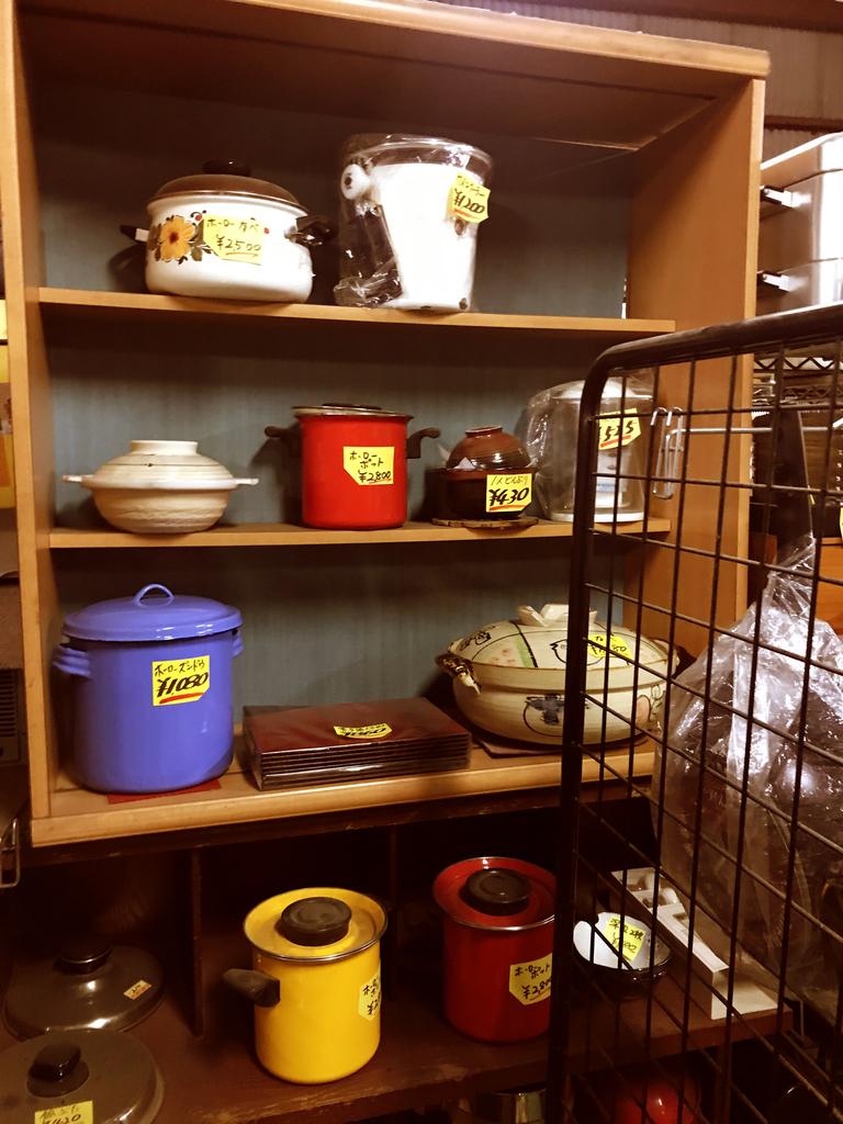 昔のレトロホーロー鍋は色も形も独特で素敵-ふるものせいかつ図鑑