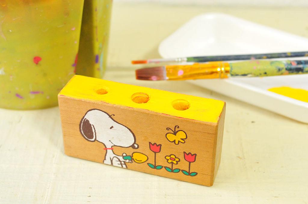 積み木に色を塗っていく-リメイクDIY-ふるものせいかつ図鑑