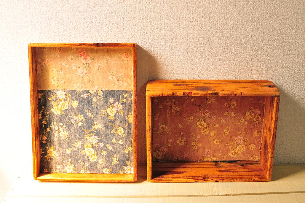 ボロ箱に布を貼って生活道具に使えるようにする-ふるものせいかつ図鑑