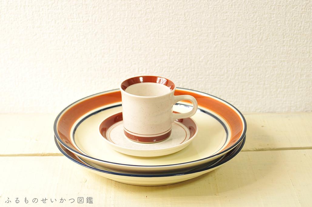 シンプルでおしゃれな食器。20円コーヒーカップと50円大皿