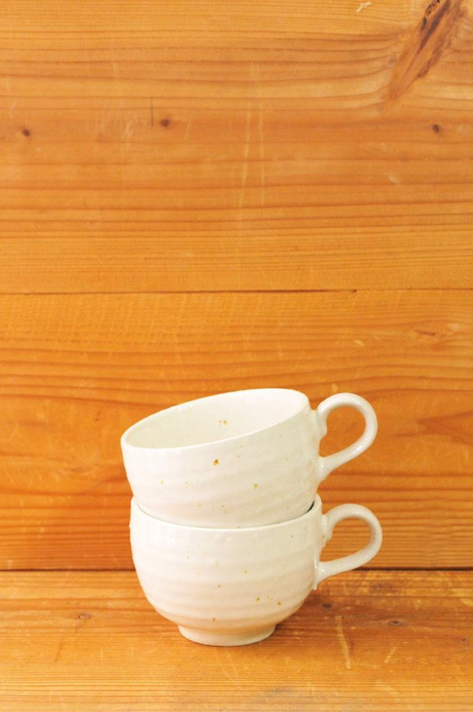 1つ50円だった新品のシンプルなスープカップ2つ