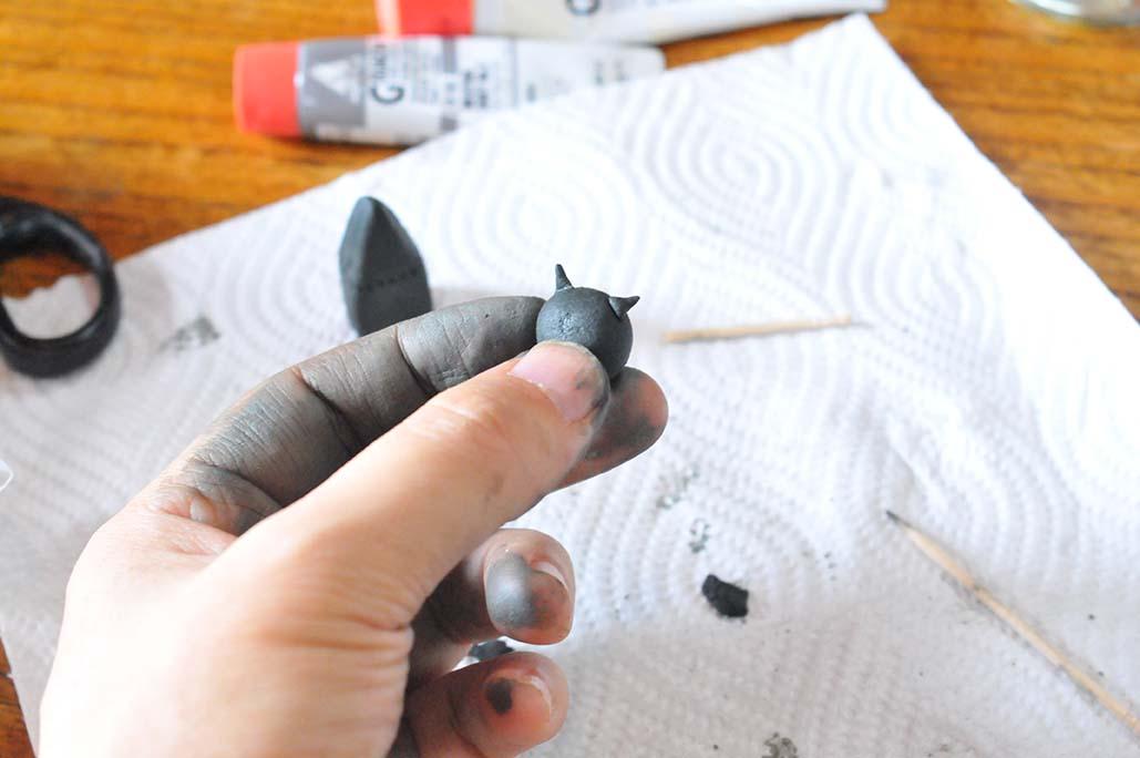 ウッディーねんどでシックで大人可愛い動物雑貨を作る
