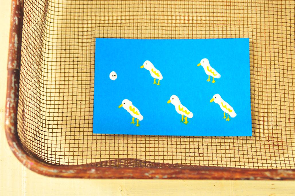 ネイルポリッシュ(マニキュア)で可愛い鳥さんカード作り