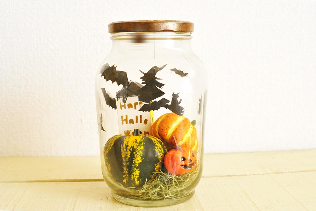 楽しく簡単に作れる「瓶づめハロウィン」