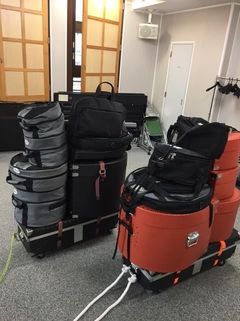 ふたばドラムレッスン教室 ドラム運搬
