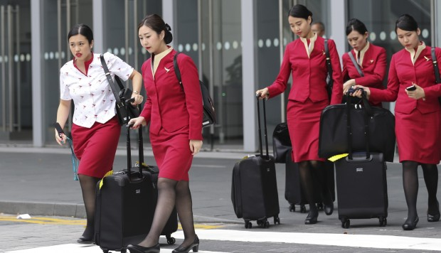Cathay Pacific's current uniform