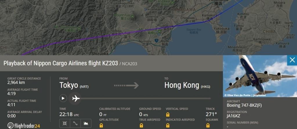 JA16KZ operated as KZ203/31MAR NRT-HKG