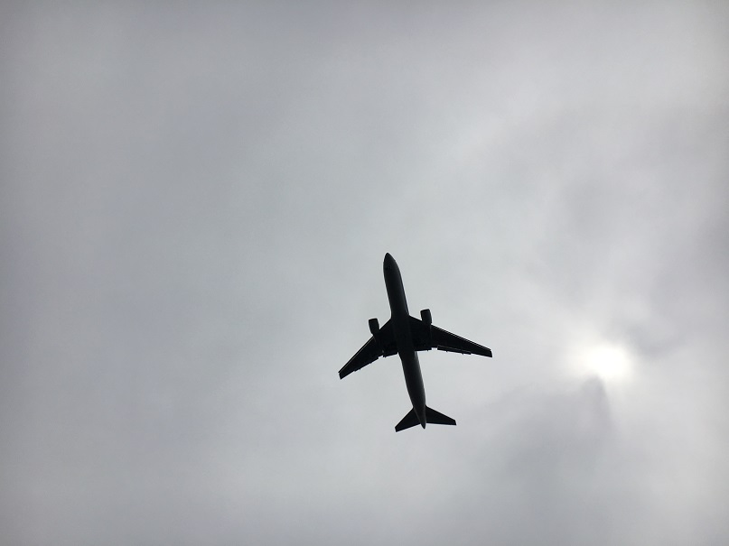 北風運用時にRWY34Lにアプローチする航空機@伝寿丸