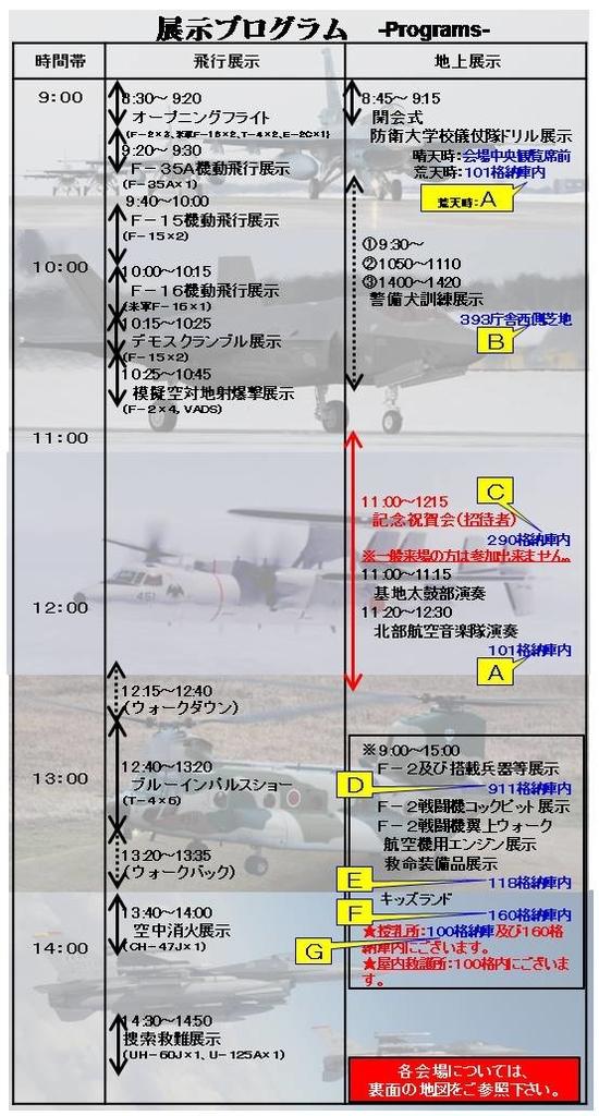 展示プログラム(航空自衛隊三沢基地)