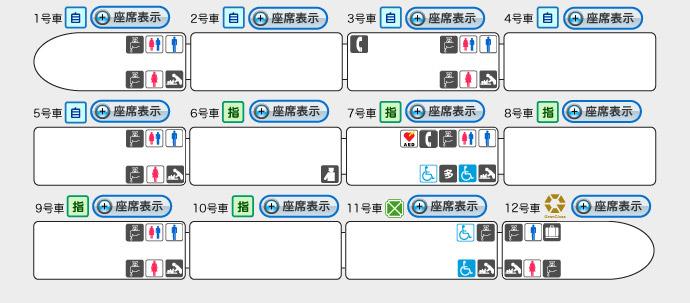 北陸新幹線「車内設備」(JR東日本)