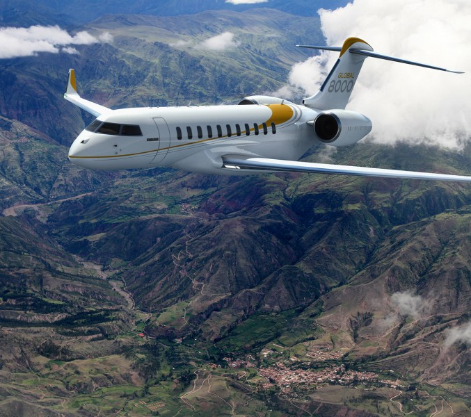 Photo:BOMBARDIER Global 8000