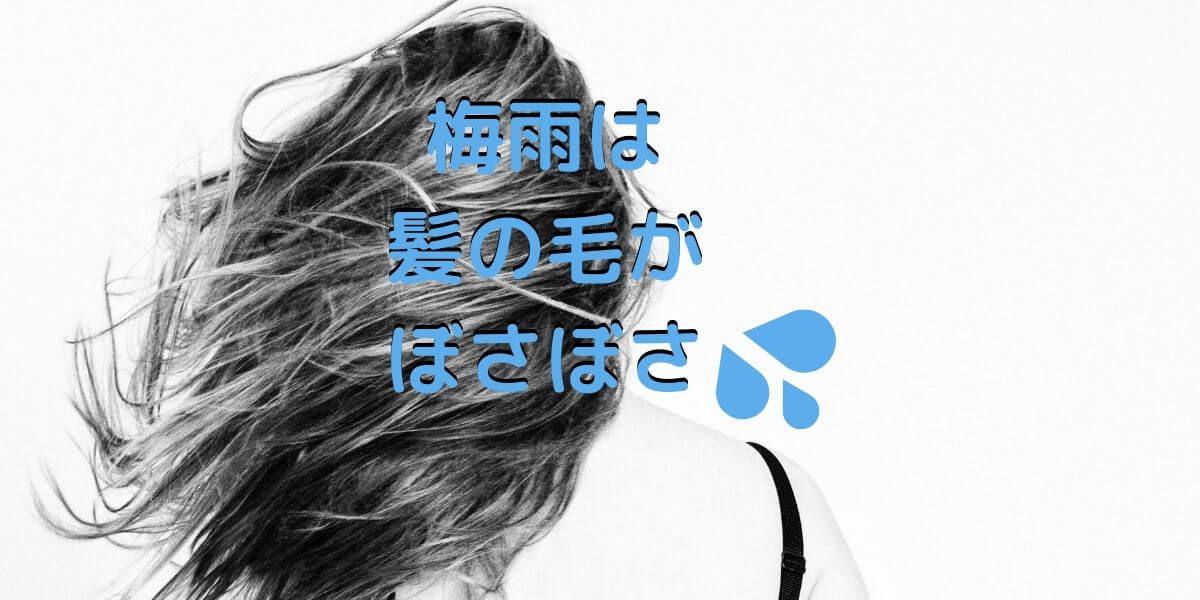 梅雨の髪の毛はぼさぼさ