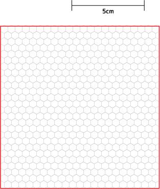 アクアビーズ型紙図案白紙