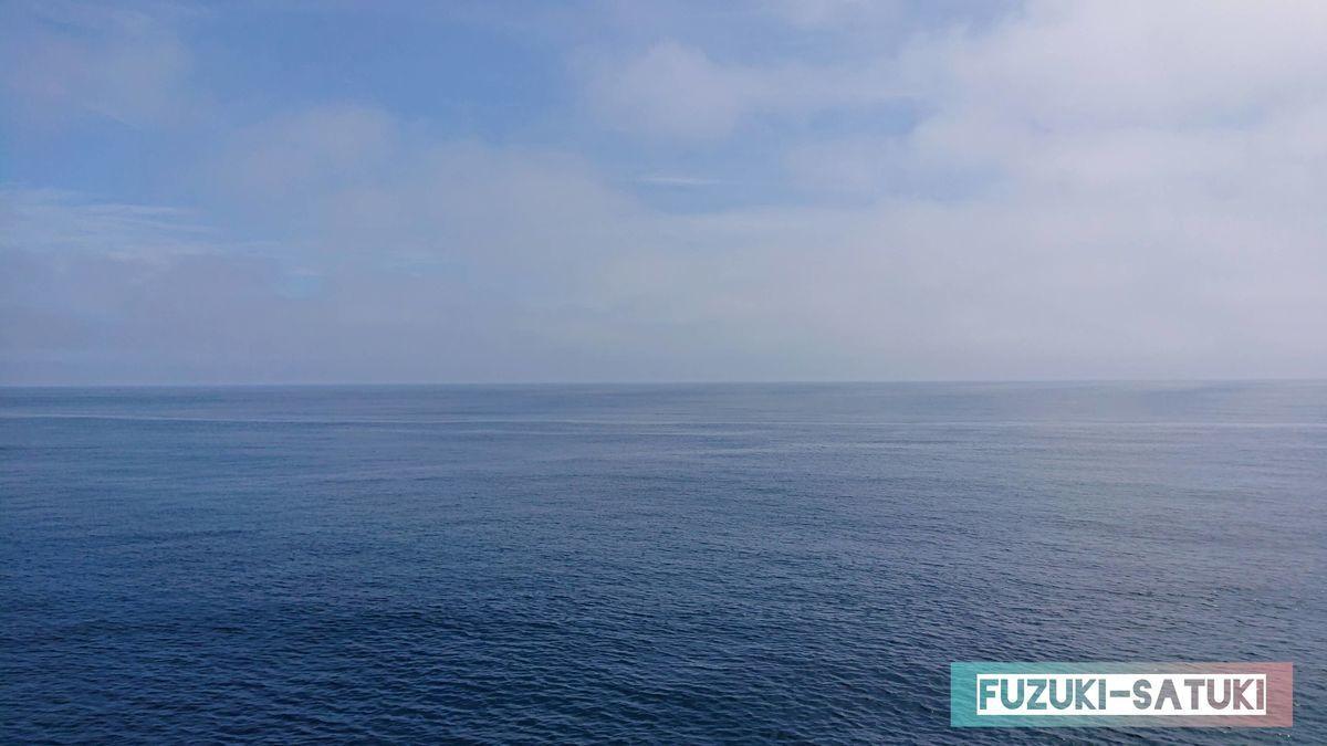 海と空の青色の写真