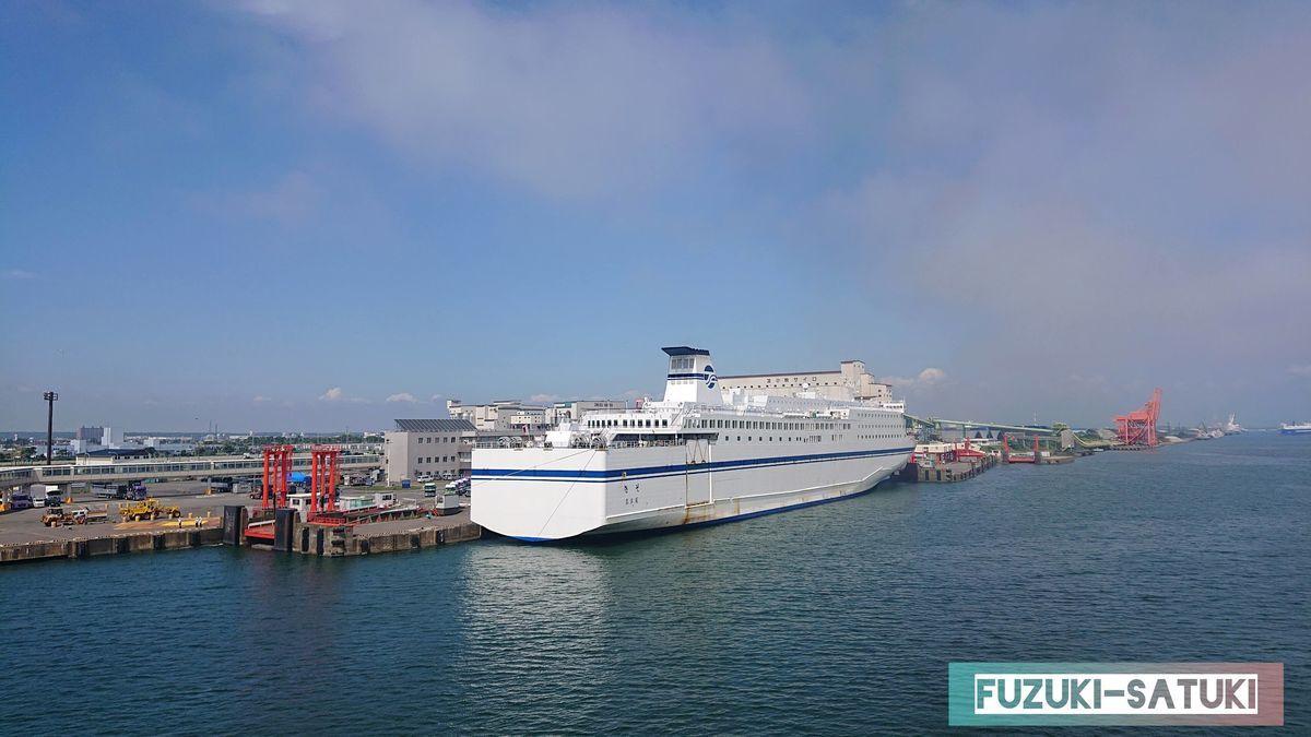 名古屋から苫小牧へ来ている船の写真