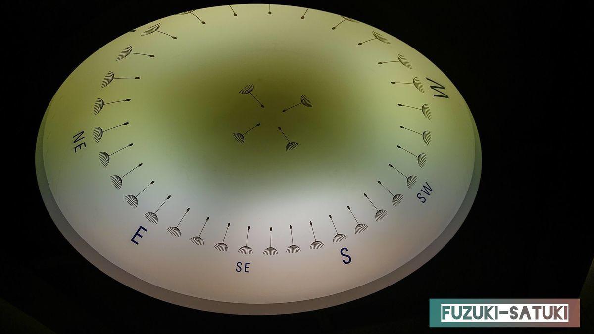 エレベータ内の照明(ダンディライオンコンパス)の写真