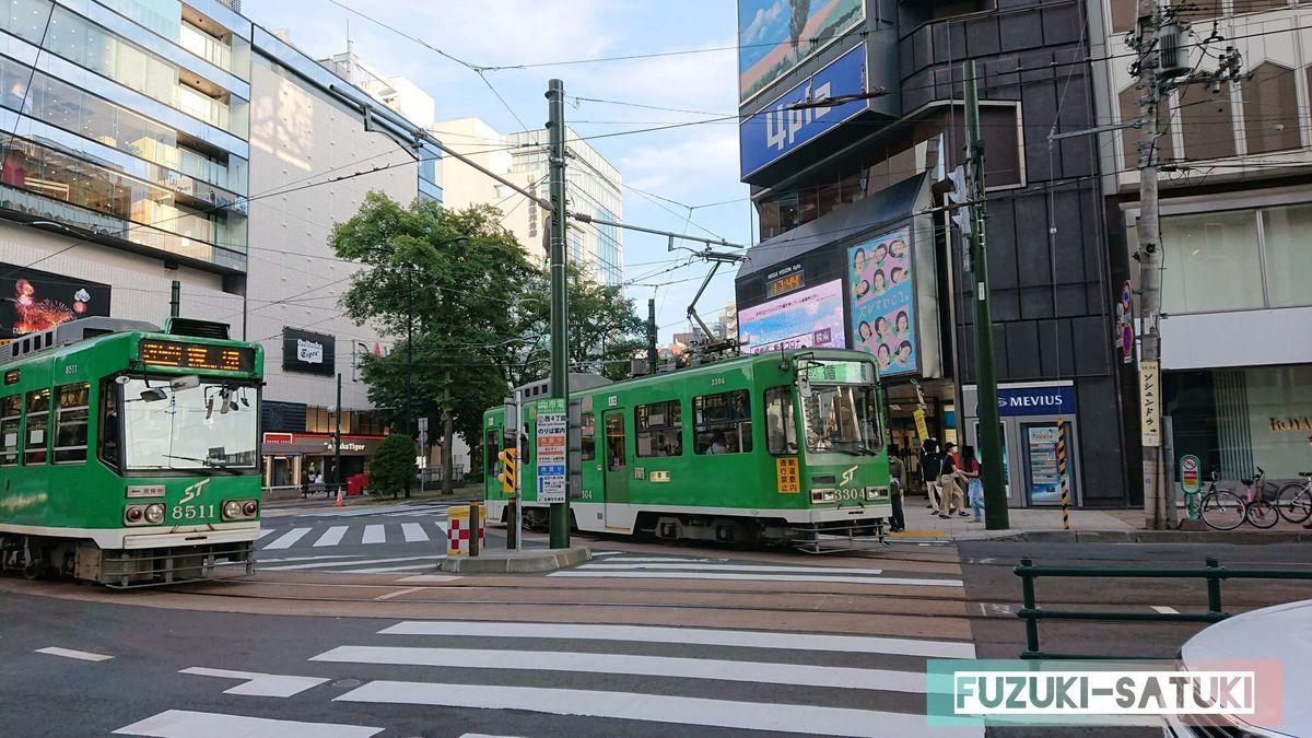 札幌の路面電車の写真