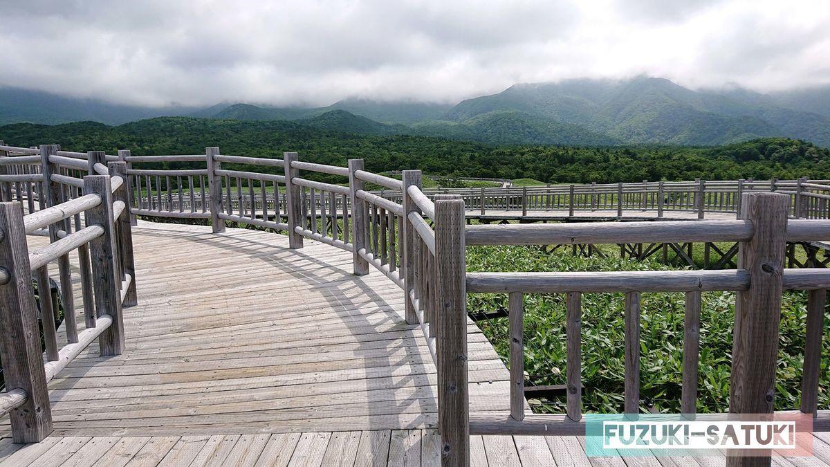 高架木道と風景