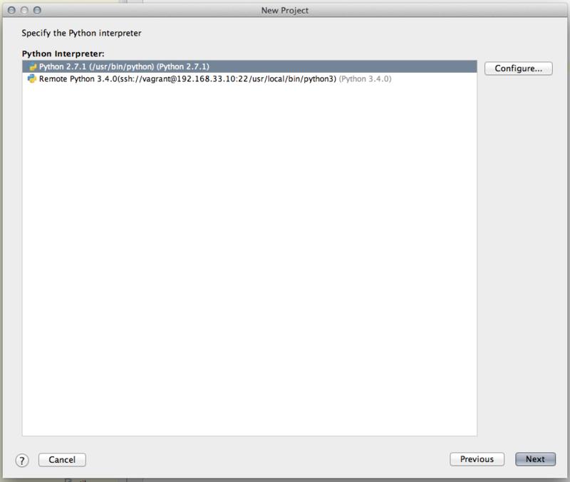 IntelliJでリモートのPython SDKを読み込む