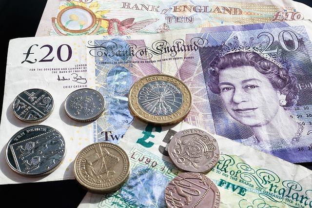 ポンド GBP コイン 紙幣