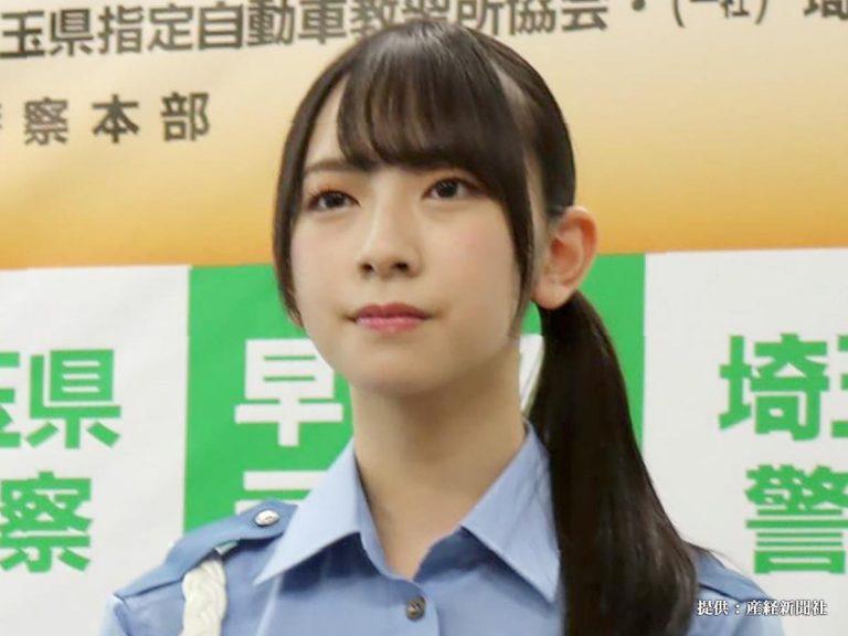 金村美玖は日本各地の交番で実際に起こったさまざまな局面を再現VTRでクイズにする人気企画「突破交番」に警官役として初出演