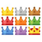 いろんな色の王冠