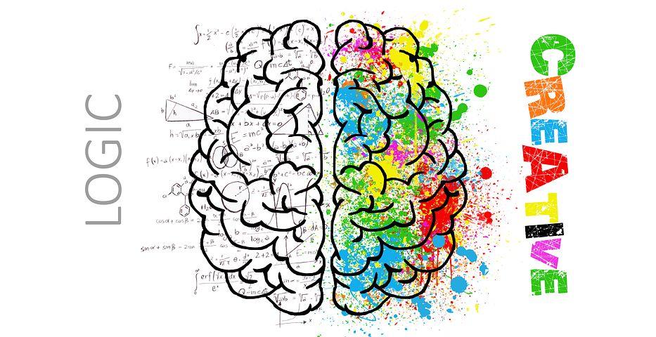 脳。ヒラメキ。アイデア。創造。