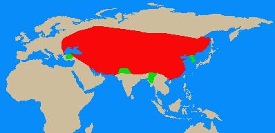 モンゴル帝国の勢力