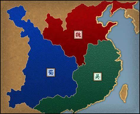 三国の地図