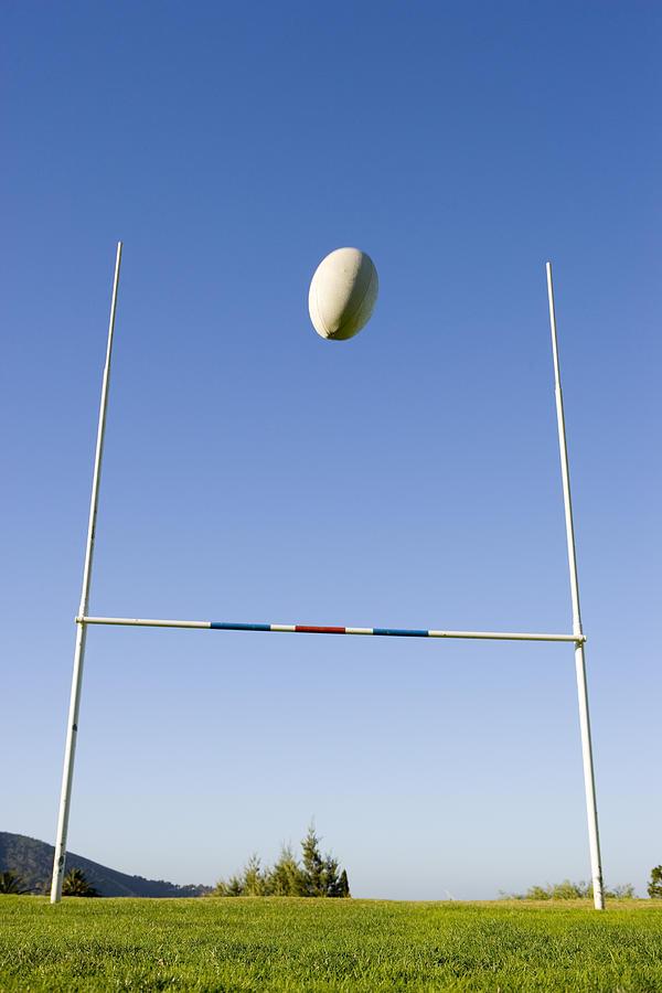ラグビーのゴールの画像