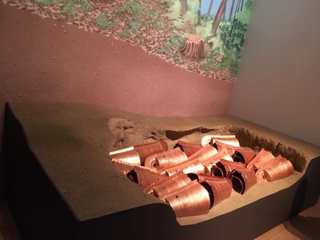 銅鐸出土模型