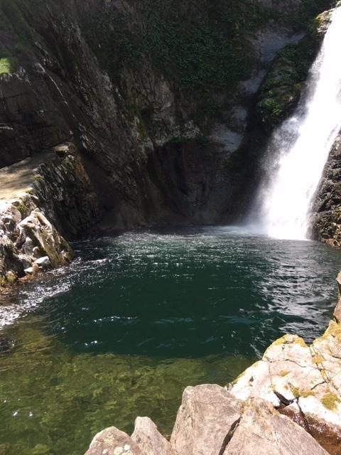 秋保大滝の滝つぼ