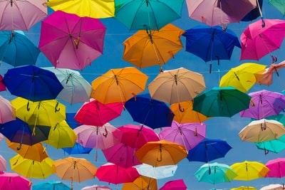 色んな色の傘