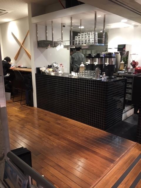 店内のカフェ