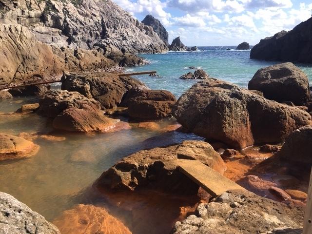 式根島の温泉
