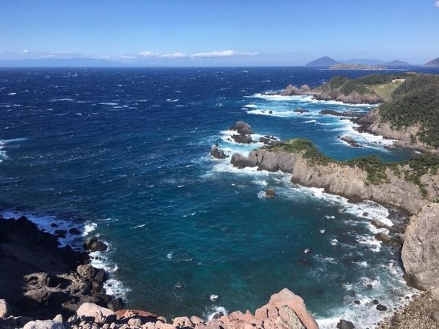 式根島の展望台からの風景