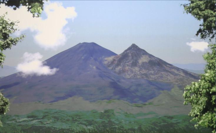 ふたつ山の富士山