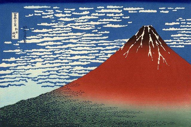 富士山の絵画