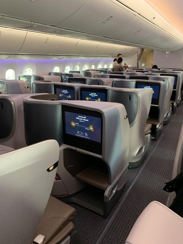 シンガポール航空SQ655ビジネスクラス