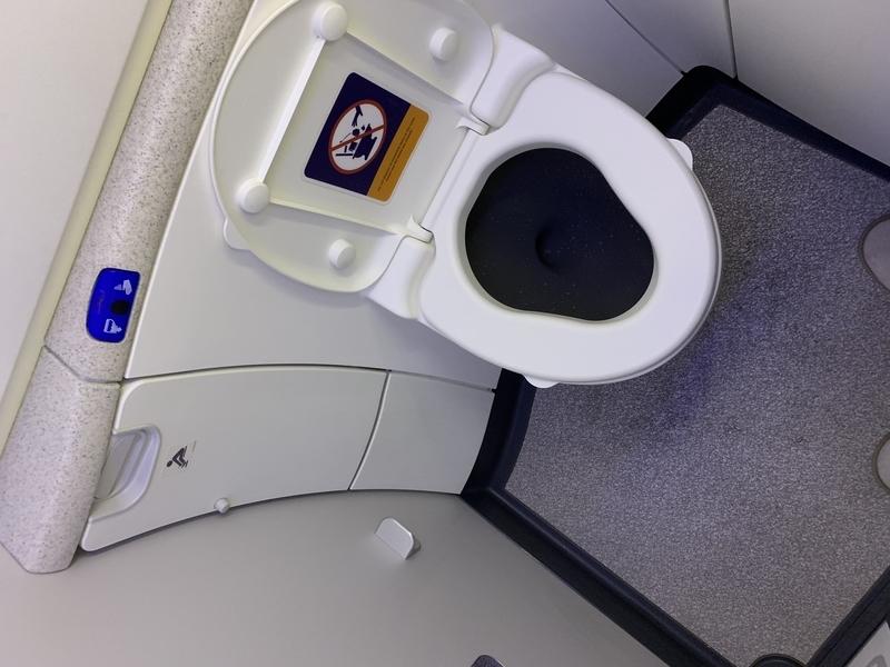 シンガポール航空SQ655ビジネスクラス お手洗い
