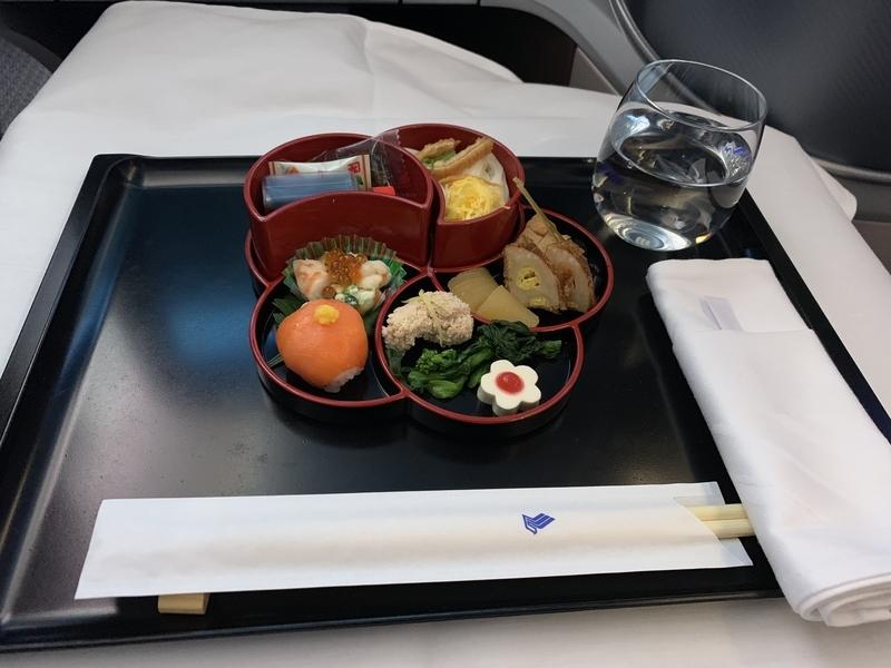 シンガポール航空SQ655ビジネスクラス 和食の花恋暦