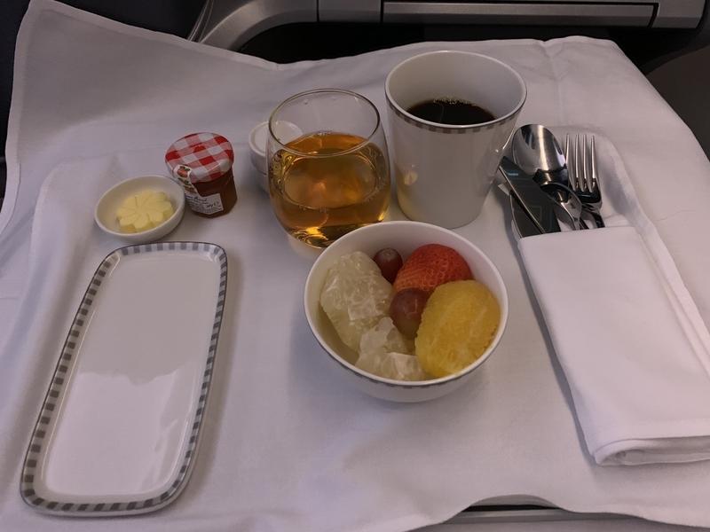 シンガポール航空SQ656ビジネスクラス朝食