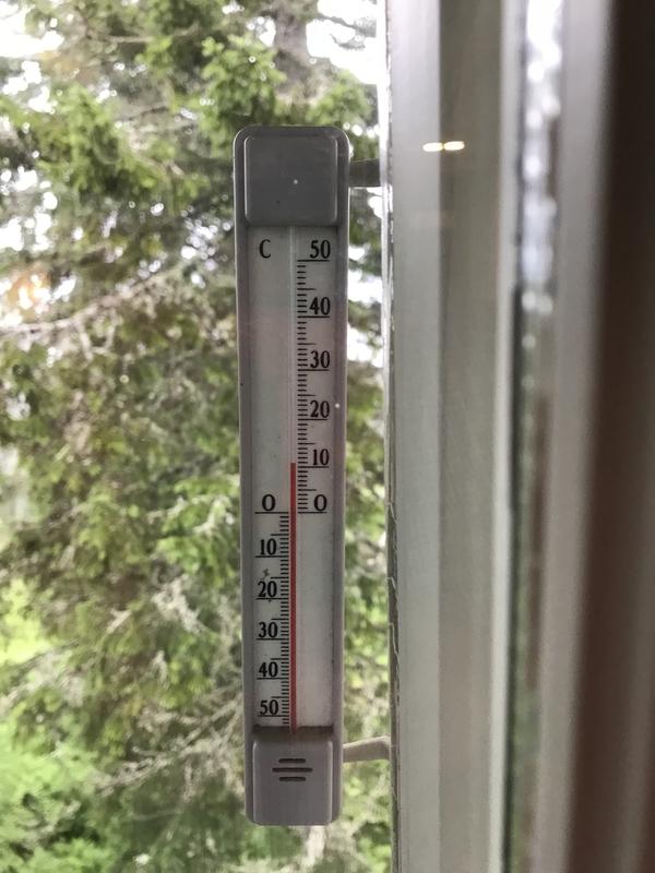 コリ国立公園夏の朝の気温