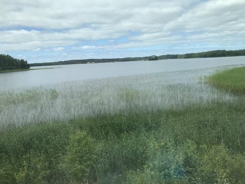 フィンランドの車窓(湖)