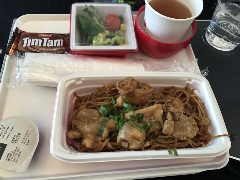 JALプレエコ機内食(軽食)