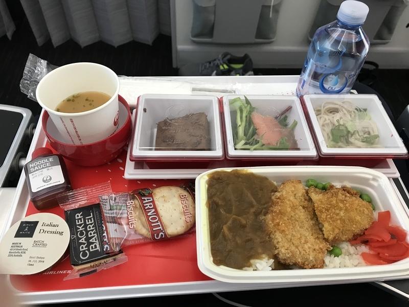 JALプレエコ機内食