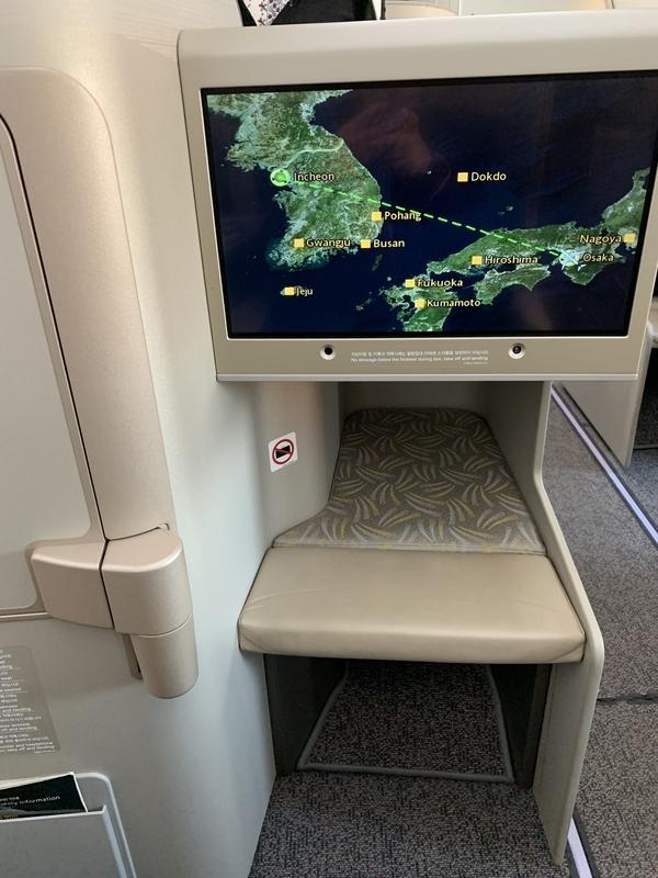 OZ113 A350座席足元